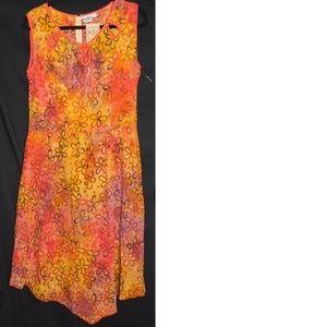 New GO FISH Hippy boho Maxi Dress Medium